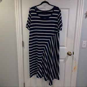 Lane Bryant Striped Midi Dress - Size 14/16